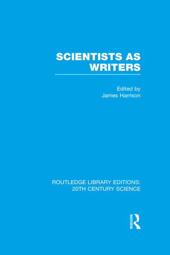 Scientists as Writers book cover