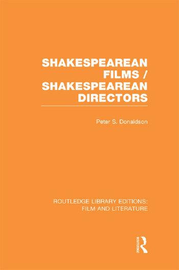 Shakespearean Films/Shakespearean Directors book cover