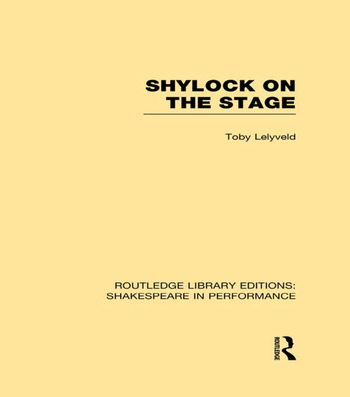 Shylock on the Stage book cover
