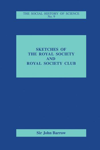 Sketches of Royal Society and Royal Society Club book cover