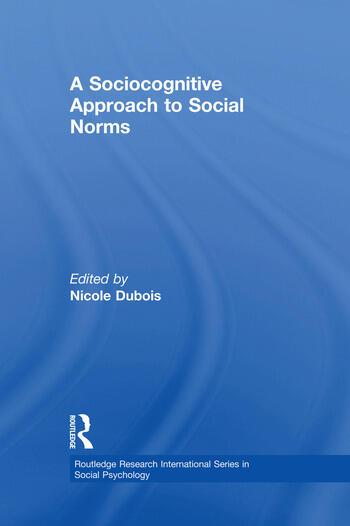 A Sociocognitive Approach to Social Norms book cover