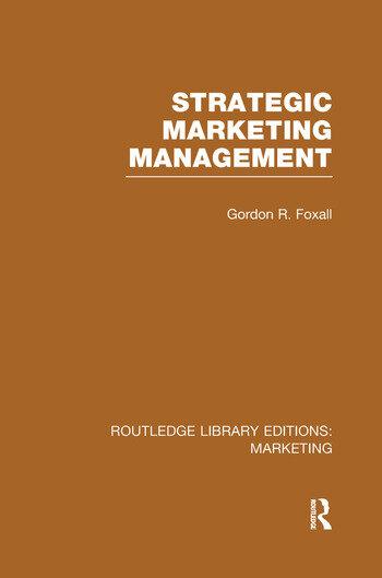 Strategic Marketing Management (RLE Marketing) book cover