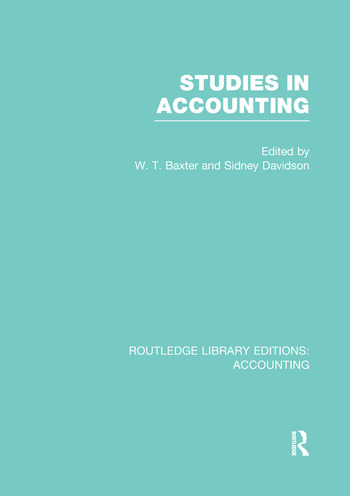 Studies in Accounting book cover