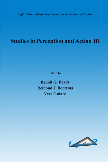Studies in Perception and Action III book cover