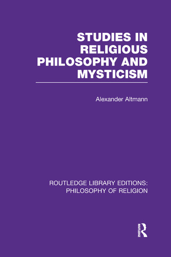 Studies in Religious Philosophy and Mysticism book cover
