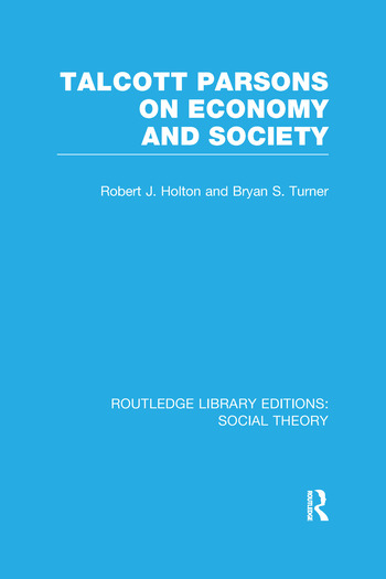 Talcott Parsons on Economy and Society book cover