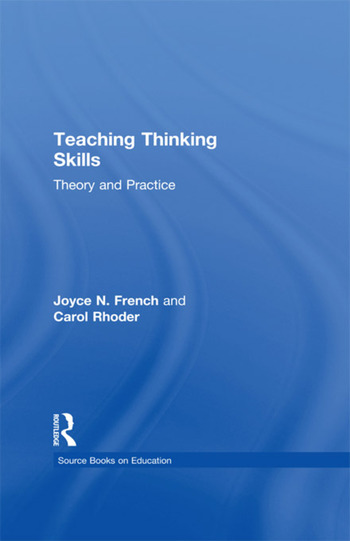 Teaching Thinking Skills Theory & Practice book cover