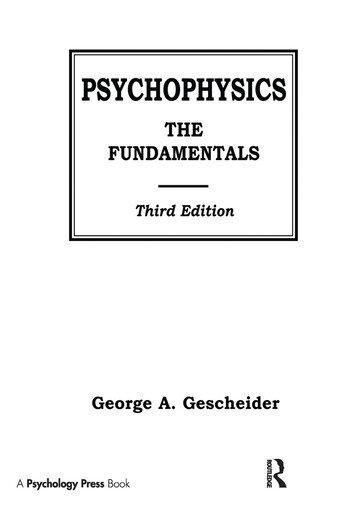 Psychophysics The Fundamentals book cover