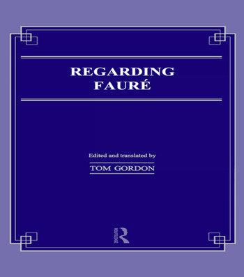 Regarding Faure book cover