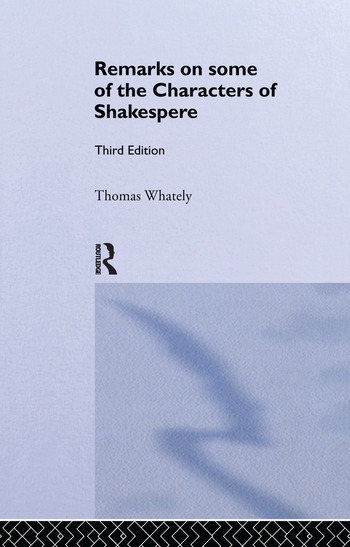 Remarks on Some of the Characters of Shakespeare Volume 17 book cover
