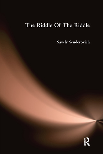 Riddle Of The Riddle book cover
