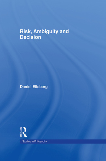 Risk, Ambiguity and Decision book cover