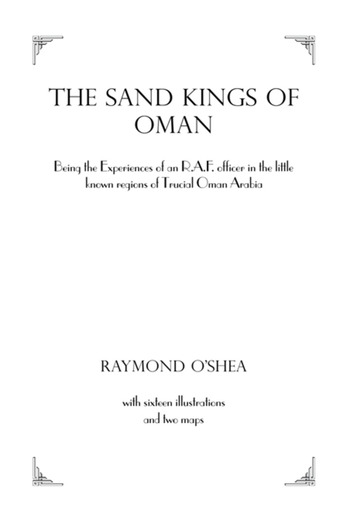 Sand Kings Of Oman book cover
