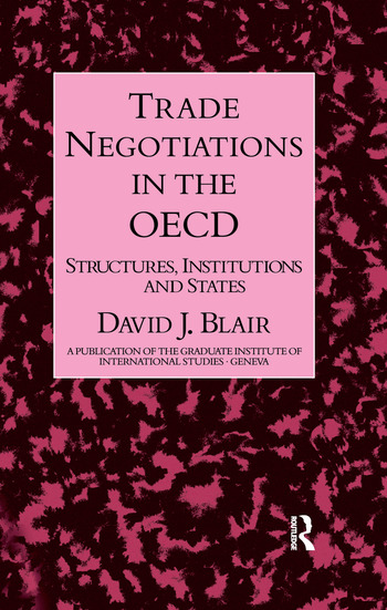 Trade Negotiations In The Oecd book cover