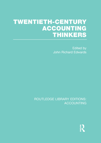 Twentieth Century Accounting Thinkers (RLE Accounting) book cover