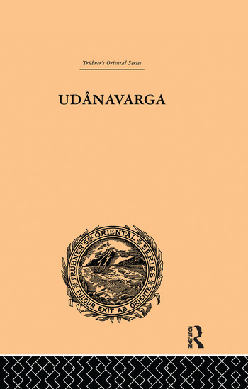 Udanavarga A Collection of Verses from the Buddhist Canon book cover