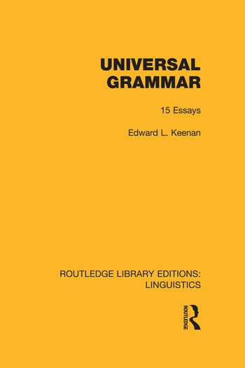 Universal Grammar book cover