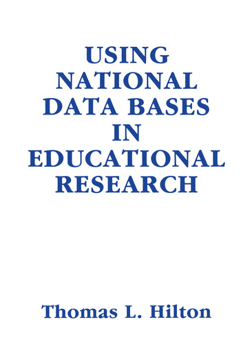 Using National Data Bases in Educational Research book cover