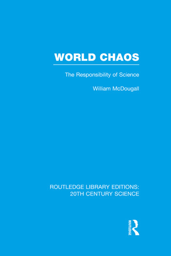 World Chaos The Responsibility of Science book cover