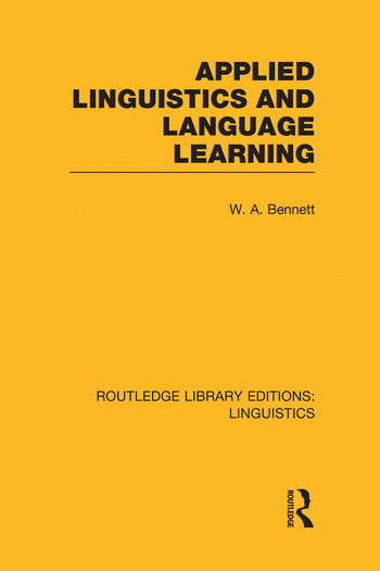 Applied Linguistics and Language Learning book cover