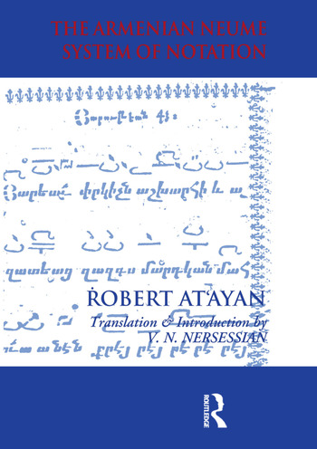 Armenian Neume System of Notation Study and Analysis book cover