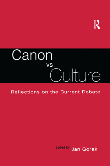 Canon Vs. Culture Reflections on the Current Debate book cover