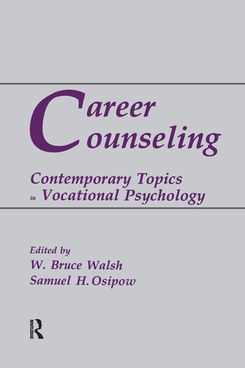 Career Counseling Contemporary Topics in Vocational Psychology book cover