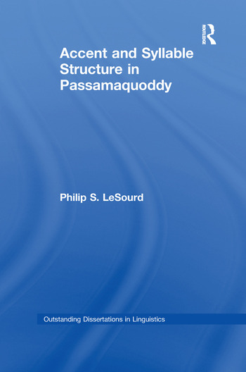 Accent & Syllable Structure in Passamaquoddy book cover