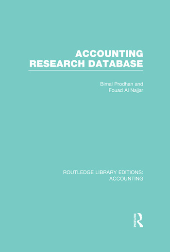 Accounting Research Database (RLE Accounting) book cover
