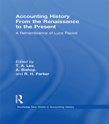Accounting History from the Renaissance to the Present A Remembrance of Luca Pacioli book cover