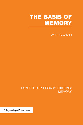 The Basis of Memory book cover