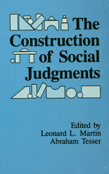 The Construction of Social Judgments book cover