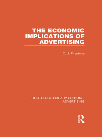 The Economic Implications of Advertising (RLE Advertising) book cover