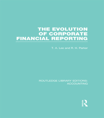 Evolution of Corporate Financial Reporting (RLE Accounting) book cover