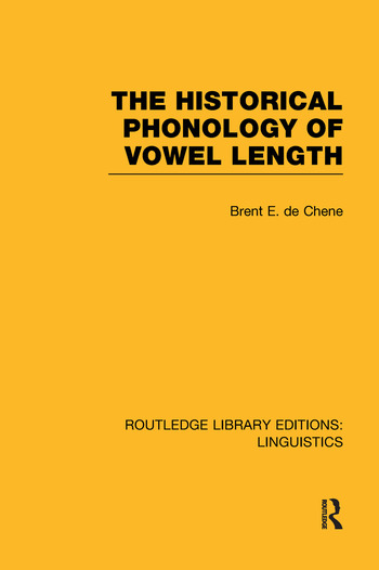 The Historical Phonology of Vowel Length book cover