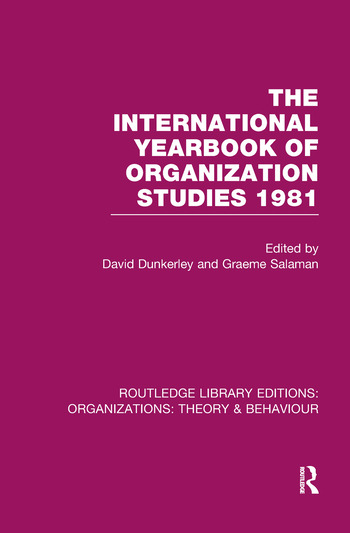 The International Yearbook of Organization Studies 1981 (RLE: Organizations) book cover