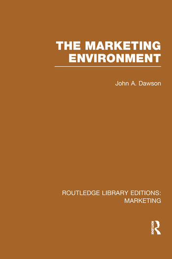 The Marketing Environment (RLE Marketing) book cover