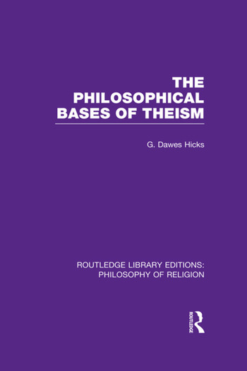The Philosophical Bases of Theism book cover