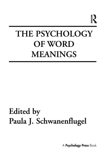 The Psychology of Word Meanings book cover