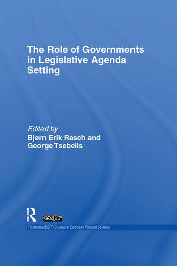 The Role of Governments in Legislative Agenda Setting book cover
