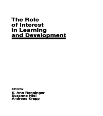 The Role of interest in Learning and Development book cover