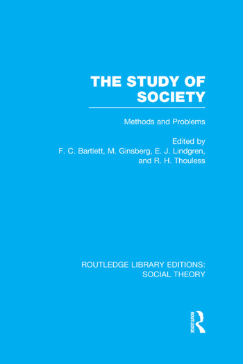 The Study of Society Methods and Problems book cover