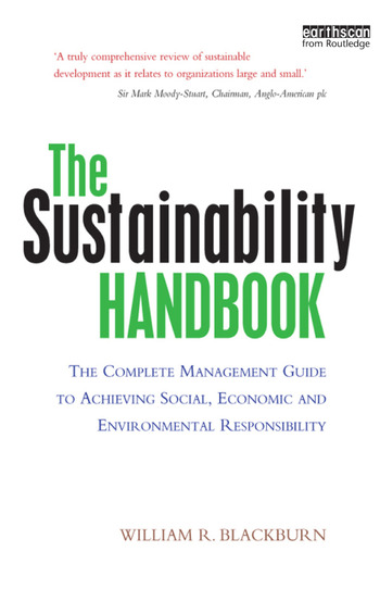 The Sustainability Handbook The Complete Management Guide to Achieving Social, Economic and Environmental Responsibility book cover