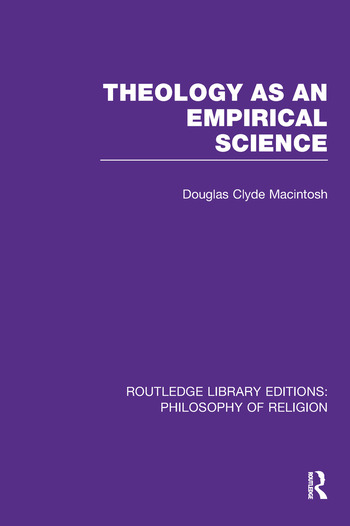 Theology as an Empirical Science book cover
