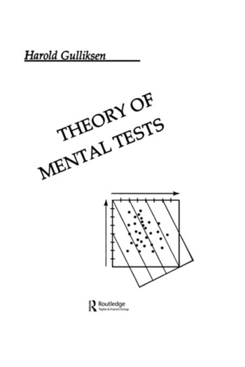 Theory of Mental Tests book cover