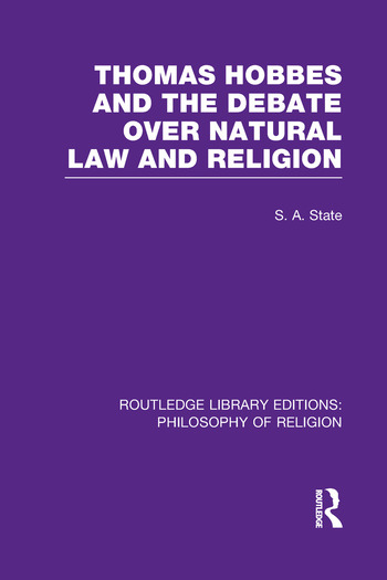 Thomas Hobbes and the Debate over Natural Law and Religion book cover