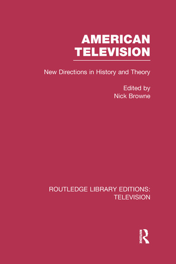 American Television New Directions in History and Theory book cover