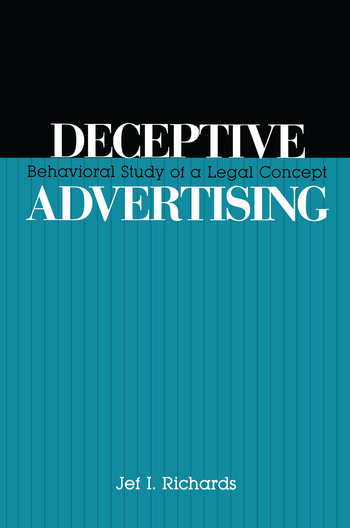 Deceptive Advertising Behavioral Study of A Legal Concept book cover