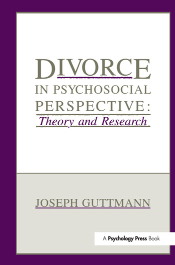 Divorce in Psychosocial Perspective Theory and Research book cover