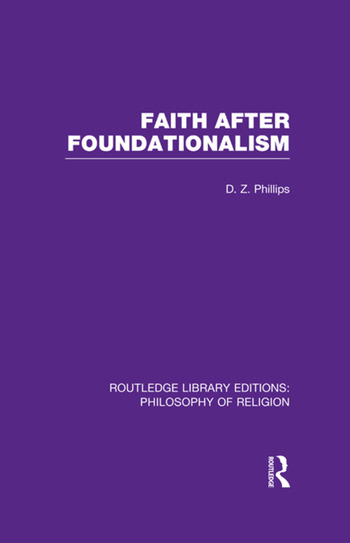 Faith after Foundationalism book cover